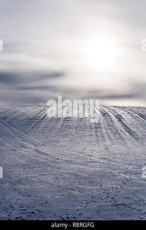 Snowy Hill - Stock Photo