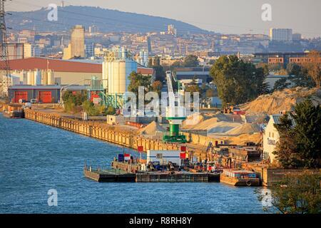 France, Rhône, Lyon, Gerland district, Edouard Herriot harbor - Stock Photo