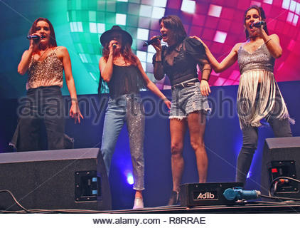B*Witched at the Stepback! 90's concert at Liverpool  Arena on Friday 07 December 2018 - Stock Photo