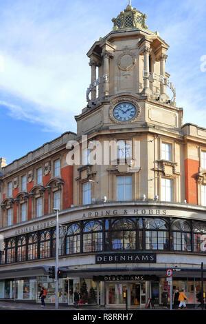 CLAPHAM, LONDON, ENGLAND, UNITED KINGDOM - NOVEMBER 13, 2018: Debenhams department store, Lavender Hill branch located in Greater London. - Stock Photo