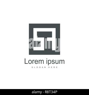 Initial Letter SA Logo Template Vector Design - Stock Photo