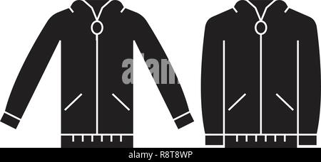 Jumper sweatshirt black vector concept icon. Jumper sweatshirt flat illustration, sign - Stock Photo