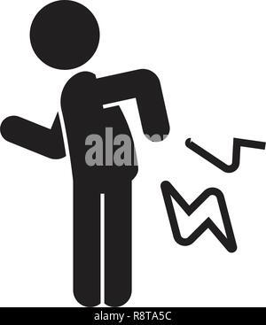 Rheumatoid arthritis black vector concept icon. Rheumatoid arthritis flat illustration, sign - Stock Photo