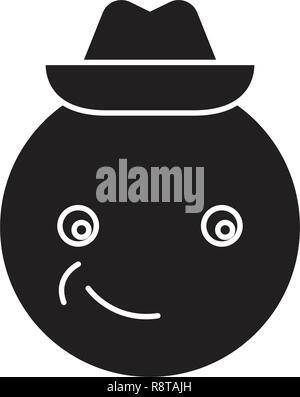 sad emoji face with hat Stock Vector Art & Illustration