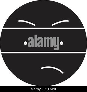 Spy emoji black vector concept icon. Spy emoji flat illustration, sign - Stock Photo