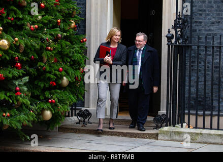 London, UK. 18th December, 2018. Amber Rudd and David Mundell, leave the Cabinet meeting in Downing Street. Credit: Tommy London/Alamy Live News - Stock Photo