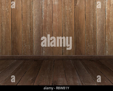 wood wall rustic boards old room floor parquet - Stock Photo