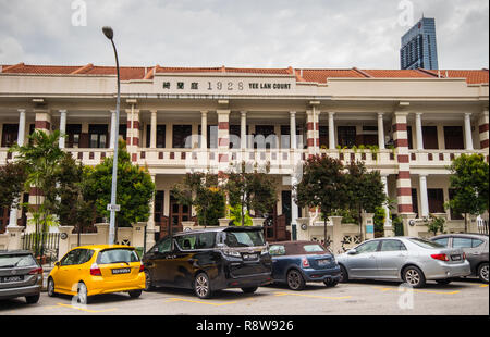 Yee Lan Court traditional buildings on Bukit Pasoh Road, Outram Park, Singapore - Stock Photo