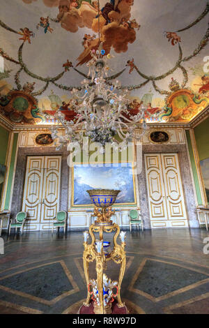 Room of the Ancient Reggia di Caserta in Italy, Royal Palace of Caserta - Stock Photo