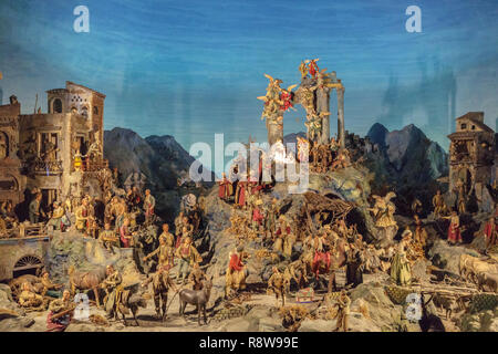 Presepe Nativity Scene in Naples Italy Traditional Holiday Artwork - Stock Photo