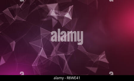 pink polygon background - Stock Photo