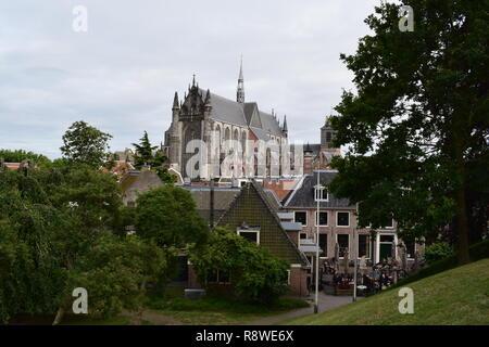 Hooglandse Kerk, Leiden, Netherands, view from Burcht van Leiden - Stock Photo