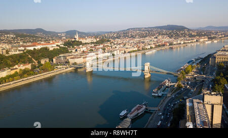 Széchenyi Chain Bridge or  Széchenyi Lánchíd, Budapest, Hungary