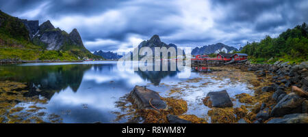 Reinebringen, Lofoten, Norway - Stock Photo