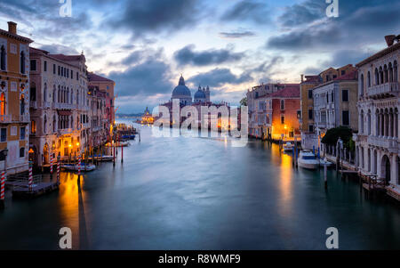 Sunrise at the Basilica di Santa Maria della Salute, Venice - Stock Photo