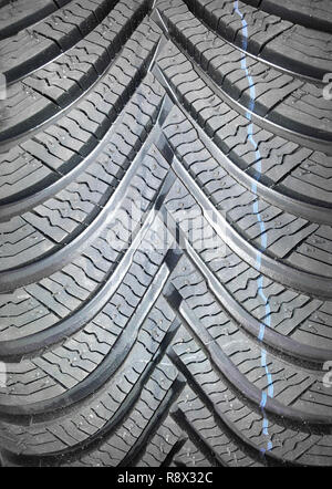 Winter tire for the car, close-up - Stock Photo