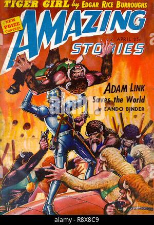 Amazing Stories Vol 16 # 4 April 1942 - Stock Photo