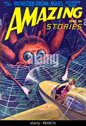 Amazing Stories Vol 22 # 4 April 1948 - Stock Photo