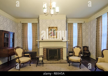 William Faulkner's parlor is pictured at his home at Rowan Oak, May 30, 2015, in Oxford, Mississippi. - Stock Photo