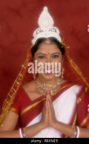 Model in traditional Bengali brides dress MR#284 - Stock Photo