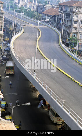 JJ To V.T Flyover bridge, bombay mumbai, maharashtra, india - Stock Photo