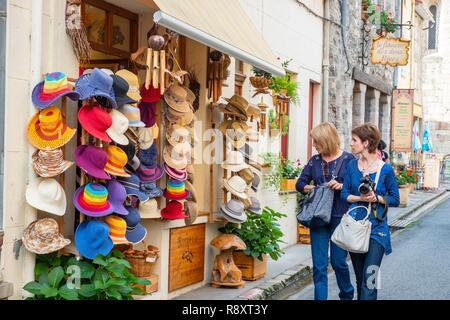 France, Pyrenees Orientales, Villefranche de Conflent, labeled Les Plus Beaux Villages de France (The Most beautiful Villages of France), the 11th century medieval town fortified by Vauban in the 17th century - Stock Photo