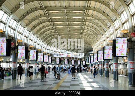 Japan, Honshu Island, Tokyo, Minato ku district, Shinagawa station - Stock Photo