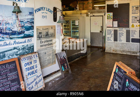Viviers fresh fish shop in the Camber area of Portsmouth - Stock Photo