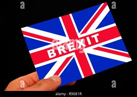 Illustration - BREXIT, flag, Great Britain, referendum, vote.  (CTK Photo/Petr Svancara) - Stock Photo