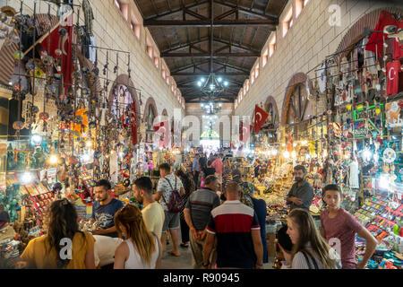 Aynali Carsi, a popular historical bazaar in Canakkale, Turkey - Stock Photo