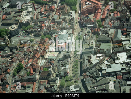 Aerial photo of the centre of the City of York - Stock Photo