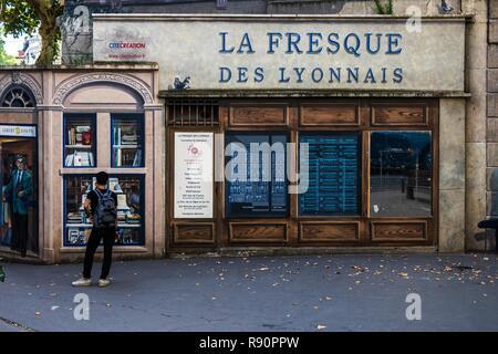 Les Fresques des Lyonnais - Stock Photo
