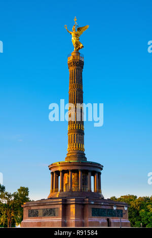 Berlin, Berlin state / Germany - 2018/07/25: The Victory Column - Siegessaule - designed by Heinrich Strack and erected in 1873 in Tiergarten Park at  - Stock Photo