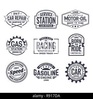 Labels for gas station - Stock Photo