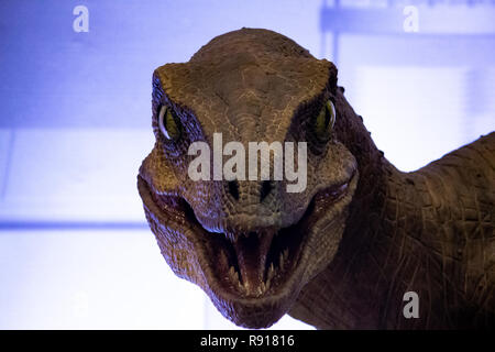 Jurassic Park's Velociraptor Kitchen Scene - Stock Photo