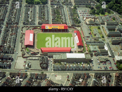 Aerial photo of the old Middlesbrough Football ground - Stock Photo