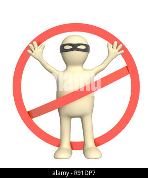 Conceprual 3d image - crime stop - Stock Photo