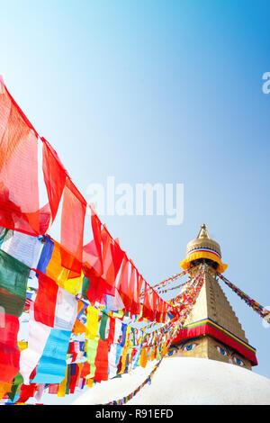 Bodhnath (Boudha ) , Asia's largest Buddhist stupa , Kathmandu, Nepal - Stock Photo