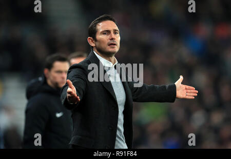 Derby County manager Frank Lampard - Stock Photo