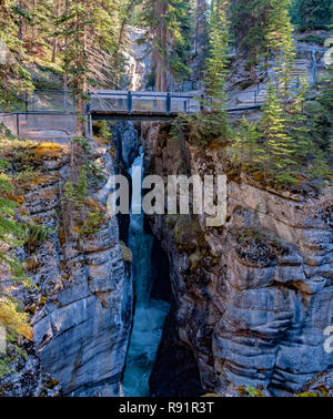 Maligne Canyon - Alberta, Canada - Stock Photo