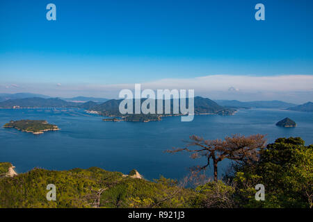 View from the top of Miyajima! - Stock Photo