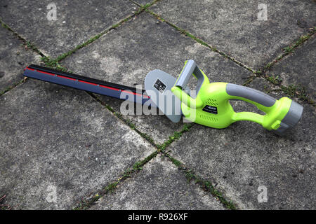 Garden Gear Cordless Hedge Trimmer - Stock Photo
