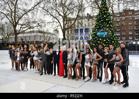 London, UK. 18th December, 2018. Launch to celebrate the new series of the ITV Dancing On Ice skating competition, at Natural History Museum Credit: Nils Jorgensen/Alamy Live News - Stock Photo