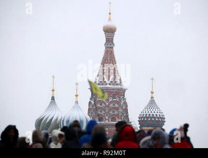Moscow, Russia. 19th Dec, 2018. MOSCOW, RUSSIA - DECEMBER 19, 2018: A view of St Basil's Cathedral. Valery Sharifulin/TASS Credit: ITAR-TASS News Agency/Alamy Live News