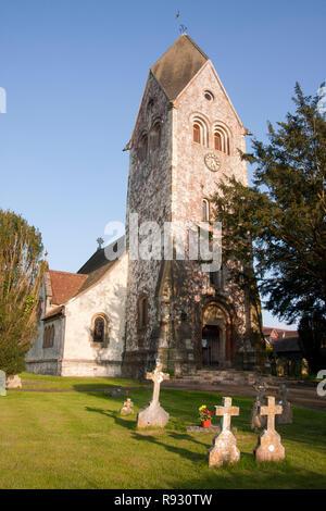 St Peter & St Paul Church, Hawkley, nr Liss, East Hampshire - Stock Photo