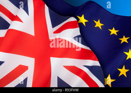 BREXIT - The United Kingdom departs from the European Union. - Stock Photo