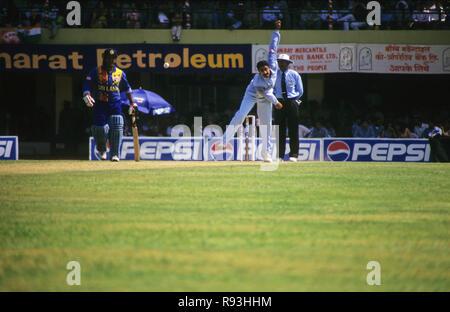 India Sri Lanka Cricket Match at Wankhede Stadium, Mumbai, Maharashtra, India - Stock Photo