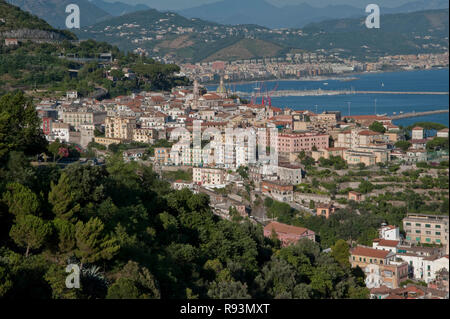 Vietri sul Mare village, at the eastern end of the Amalfi Coast in southern Italy, in background Salerno city, Italy    Photo © Fabio Mazzarella/Sinte - Stock Photo