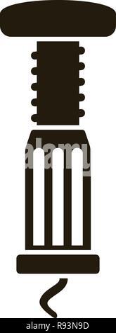 Spiral bottle opener icon. Simple illustration of spiral bottle opener vector icon for web design isolated on white background - Stock Photo