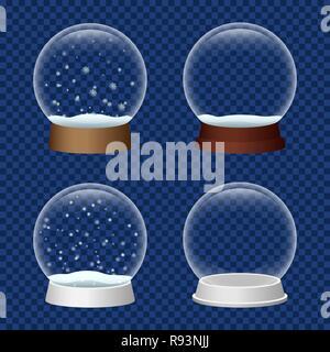 Snowglobe icon set. Realistic set of snowglobe vector icons for web design - Stock Photo